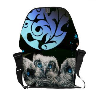 Baby Owls Under The Moonlight Commuter Bag