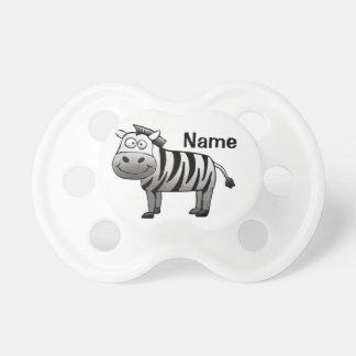 Baby Pacifier, Cute Zebra Cartoon with Name Pacifier