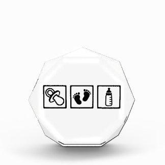 Baby pacifier feet bottle acrylic award
