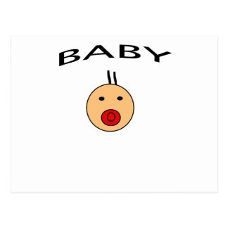 BABY PACIFIER POSTCARD