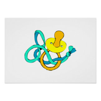 Baby Pacifier Poster