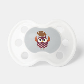 Baby Pacifier with Football Playing Owl