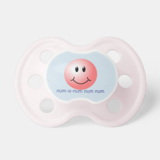 """Baby Pacifier  with Pink Smiley Face """"num-a-num"""""""