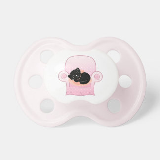 Baby pacifier with sleeping Cat