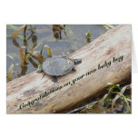 Baby Painted Turtle New Baby Boy Card