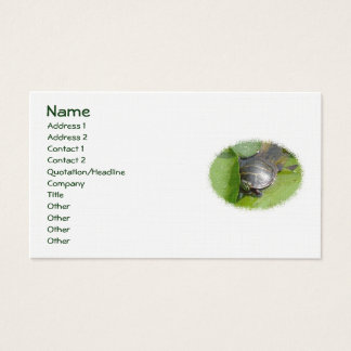 Baby Painted Turtle on Lilypad Business Card