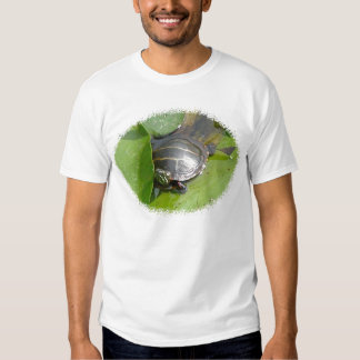 Baby Painted Turtle on Lilypad Items T-shirt
