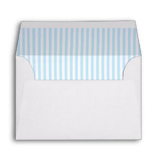 Baby Pale Blue Striped Lining A6 Envelope