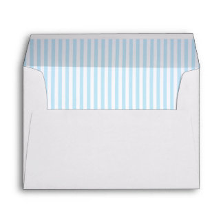 Baby Pale Blue Striped Lining A7 Envelope