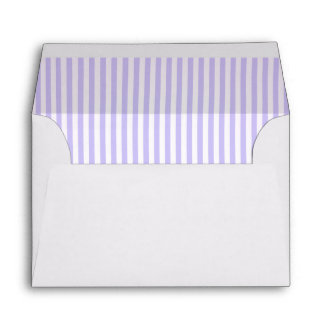 Baby Pale Purple Striped Lining A6 Envelope
