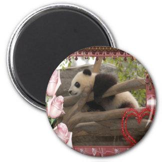 baby-panda-00187 2 inch round magnet