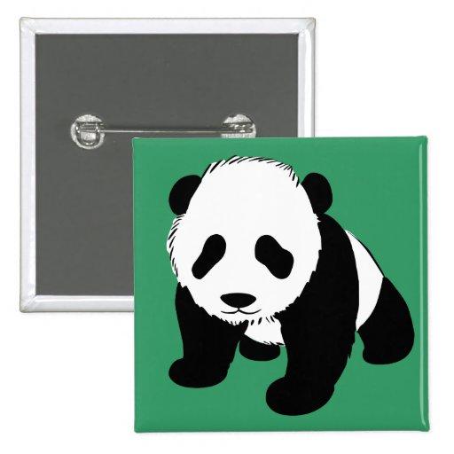 Baby Panda 2 Inch Square Button
