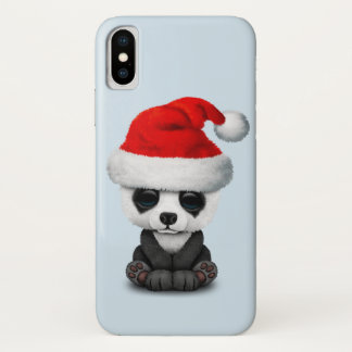 Baby Panda Bear Wearing a Santa Hat iPhone X Case