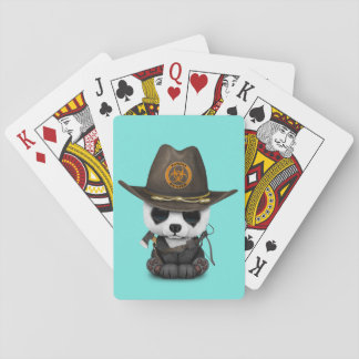 Baby Panda Bear Zombie Hunter Playing Cards
