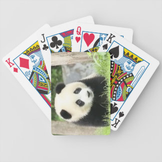 Baby Panda Bicycle Playing Cards
