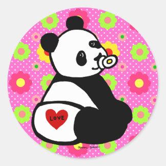 Baby Panda Cartoon Stickers