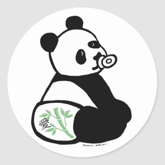 Baby Panda Cartoon Sticker