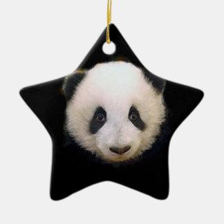 Baby Panda Ceramic Ornament