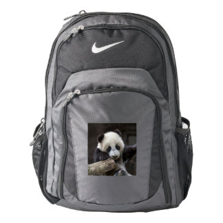 Baby panda climb a tree nike backpack