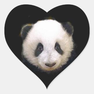 Baby Panda Heart Sticker