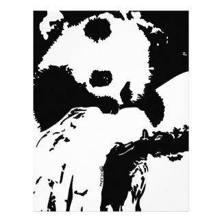 Baby Panda Hugs A Tree Letterhead