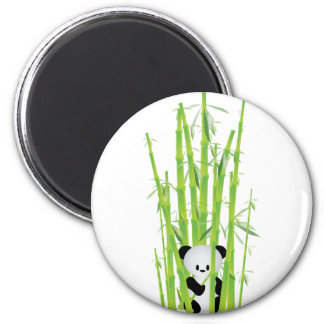 Baby Panda in Bamboo Forest 2 Inch Round Magnet