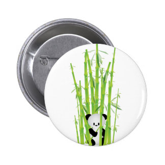 Baby Panda in Bamboo Forest Buttons