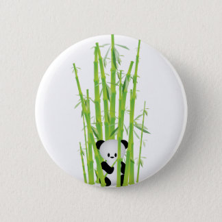 Baby Panda in Bamboo Forest Pinback Button