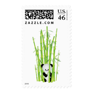 Baby Panda in Bamboo Forest Stamp