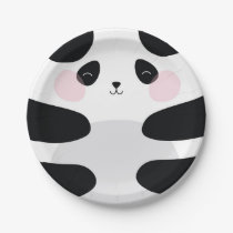BABY PANDA PAPER PLATES