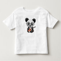 Baby Panda Playing English Flag Guitar Toddler T-shirt