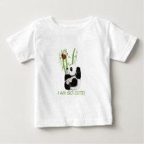 baby panda shirt, I am so cute! Baby T-Shirt