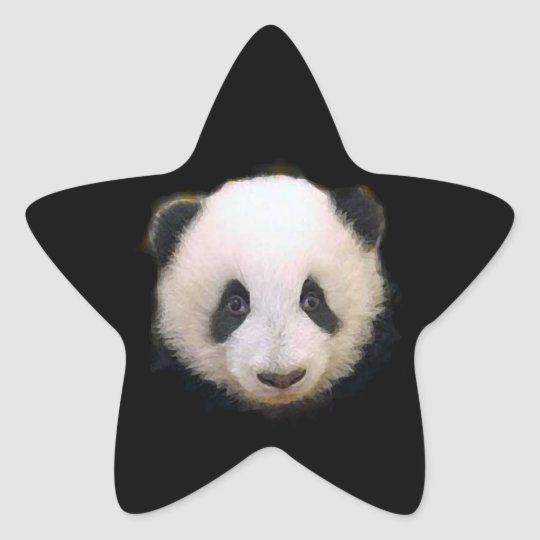 Baby Panda Star Sticker