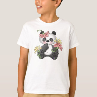 Baby Panda with flowers T-Shirt