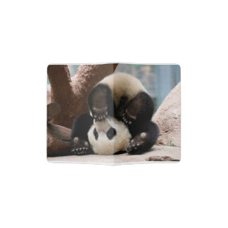 Baby pandas playing - baby panda  cute panda passport holder