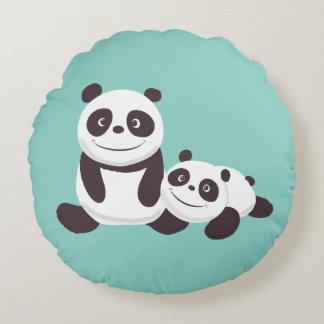 Baby Pandas Round Pillow