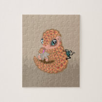 Baby pangolin with ant jigsaw puzzle