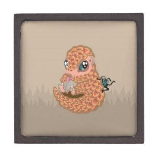 Baby pangolin with ant keepsake box