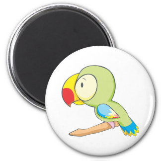 Baby Parrot 2 Inch Round Magnet