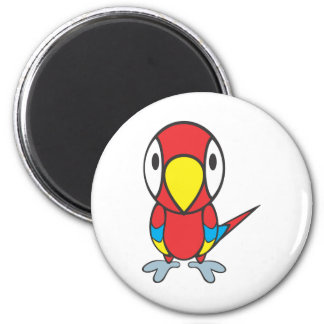Baby Parrot Cartoon 2 Inch Round Magnet