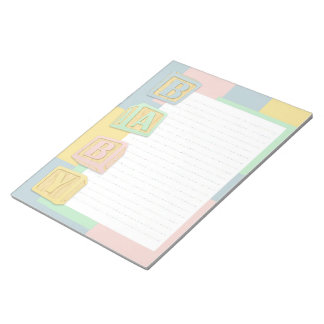 Baby Pastel Alphabet Blocks Custom Notepad