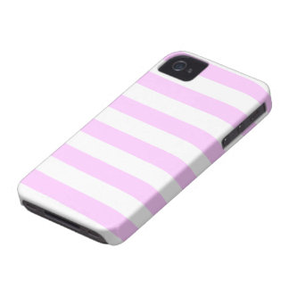 Baby Pastel Pink and White Stripes Pattern iPhone 4 Case