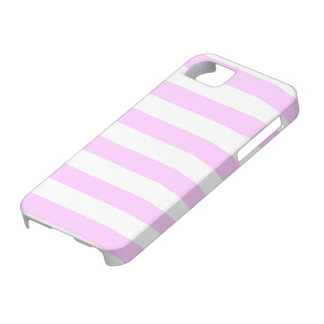 Baby Pastel Pink and White Stripes Pattern iPhone SE/5/5s Case