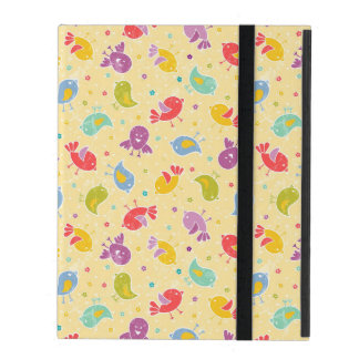 Baby pattern with cute birds iPad folio case