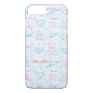 baby pattern with teddy bear iPhone 8 plus/7 plus case