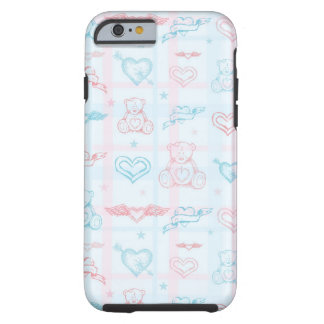 baby pattern with teddy bear tough iPhone 6 case