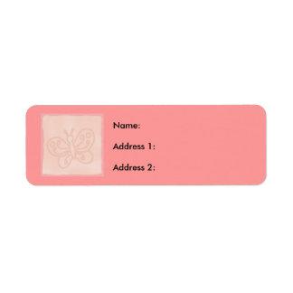 Baby Peach Block Label