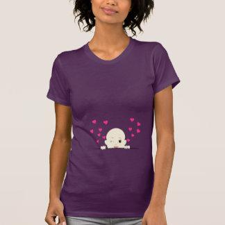 Baby Peeking with Hearts Maternity Shirt