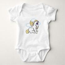 Baby Pegasus with binky - Blonde Baby Bodysuit