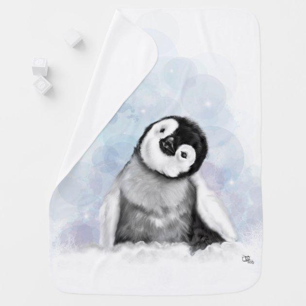 Baby Todler blanket Happy Penguins baby shower Penguins baby blanket Penguins Crib blanket baby quilted blanket Penguins quilt